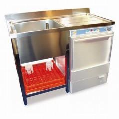 Fregadero para lavavasos y lavaplatos