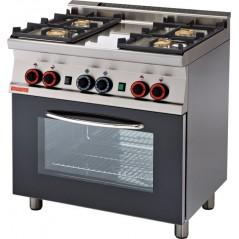 Cocina a gas con horno con grill, 4 fuegos- Modelo CF4-68G