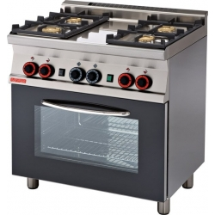 Cocina a gas con horno con grill, 4 fuegos-Modelo TPF4-610G-