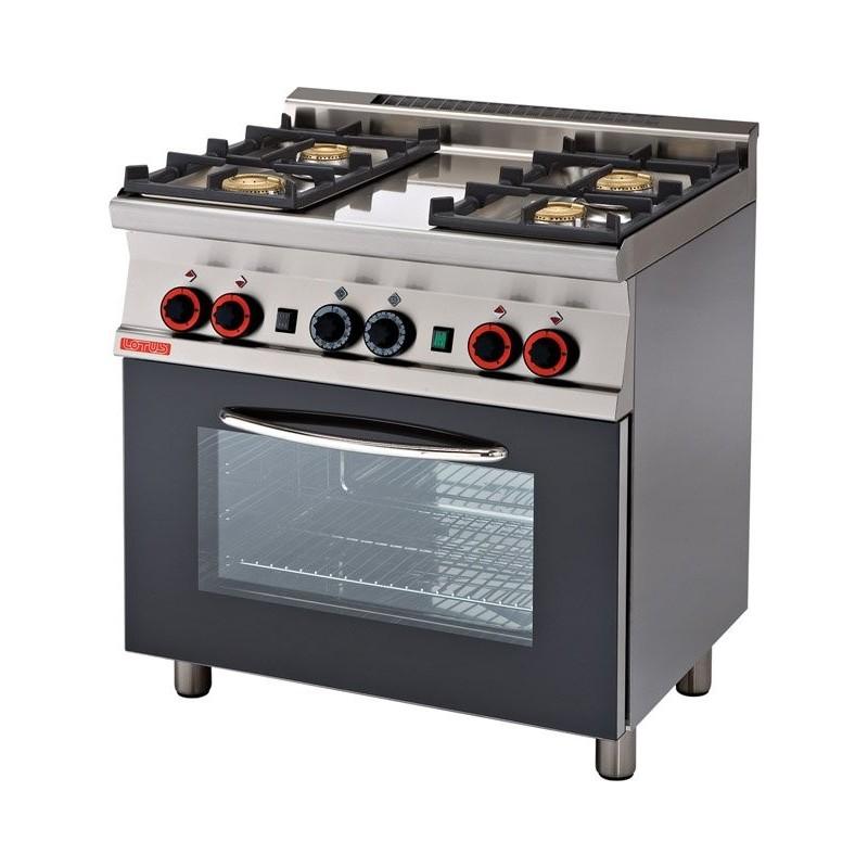 Cocina a gas con horno con grill 6 fuegos modelo tpf4 for Cocinas 5 fuegos gas