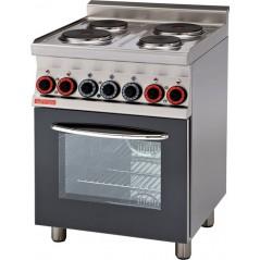Cocina eléctrica c/horno multifuncional c/Grill 4 placas- Mod CFM4-66ET-