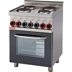 Cocina eléctrica GT c/horno multifuncional c/Grill con 4 placas- Mod. CFM4-68ET-