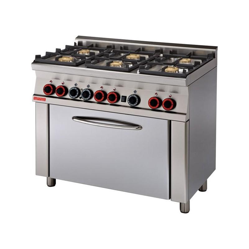 Cocina mixta 6 fuegos a gas y horno eléctrico con Grill- Modelo CF6-610GEM-