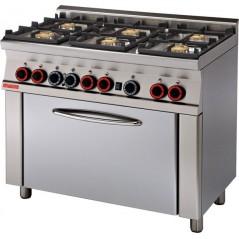 Cocina mixta 6 fuegos gas, horno eléctrico c/grill multifunción- CFM6-610GEM-