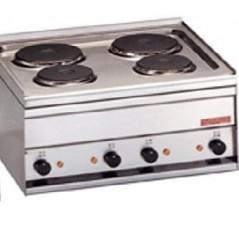 Cocina snack sobre-mostrador monofásica con 4 fuegos-  Modelo PC-2EM-