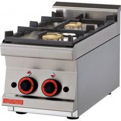 Cocina snack sobre-mostrador a gas de 2 fuegos- Modelo PCT-63G