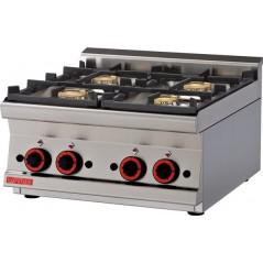 Cocina snack sobre-mostrador a gas de 4 fuegos-Modelo  PCT-66G-