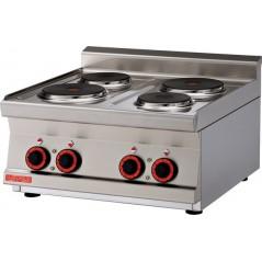 Cocina eléctrica snack sobremostrador trifásica 4 placas circulares- Modelo PCT-66ET-