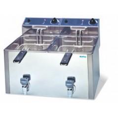 Freidora eléctrica de 10+10 litros GT- Modelo FR 1010 L GT-