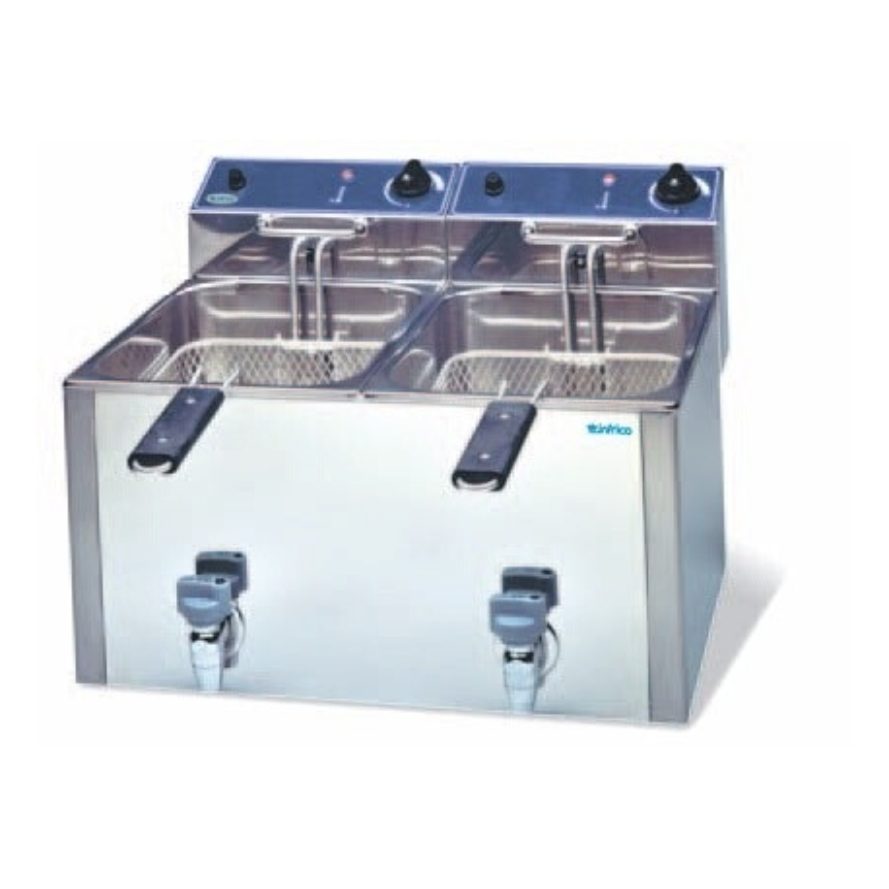 Freidora eléctrica de 10+10 litros GT- Modelo FR 1010 L GT INFRICO