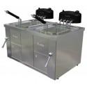 Freidora eléctrica de 10+10 litros- Modelo FAH 10+10-