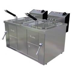 Freidora eléctrica de 10+10 litros- Modelo FAH 10+10 400V-