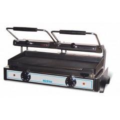 Grill eléctrico 2 placas superiores acanaladas y 1 inferior lisa- Modelo GR 82 L-