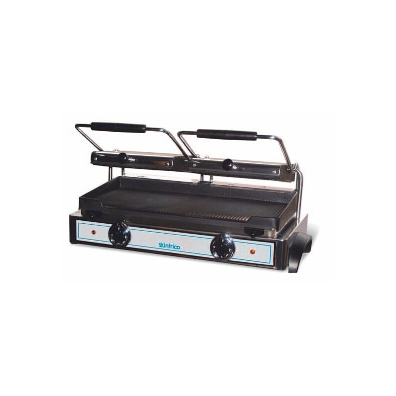 Grill eléctrico 2 placas superiores acanaladas y 1 inferior lisa y acanalada- Modelo GR M2-