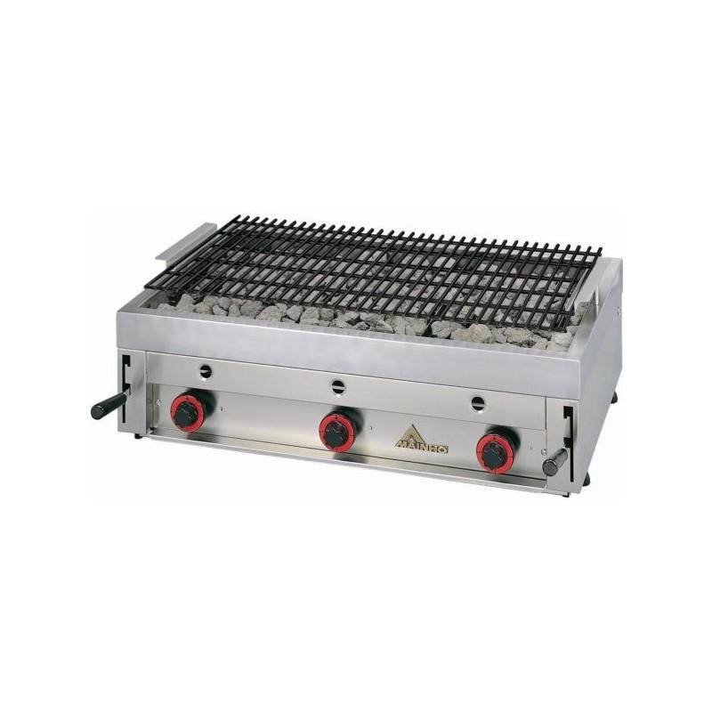 Parrilla-Grill de carbón volcánico incombustible y refractorio- Modelo PBI 90