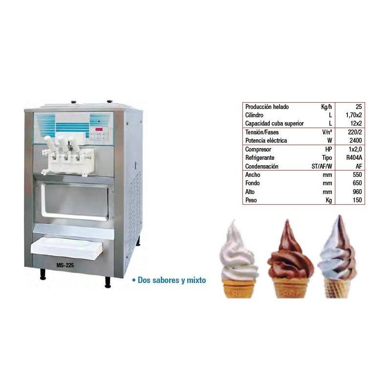 Máquina de helado soft y yogurt. Modelo MS-225