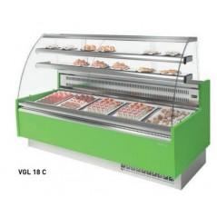 Vitrina expositora para pastelería serie GLACÉ CRISTAL CURVO VGL C// VGL CN