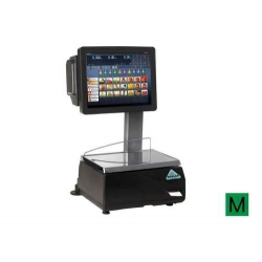 Balanza Modelo SCALEPOS 20 RL PC táctil  sobremostrador con etiquetadora.