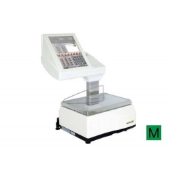 Balanza Modelo KSCALE 12 20 RL Etiquetadora PC táctil sobremostrador con etiquetadora.