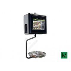 Balanza Modelo KSCALE 12 22 RL Etiquetadora PC táctil colgada con etiquetadora.