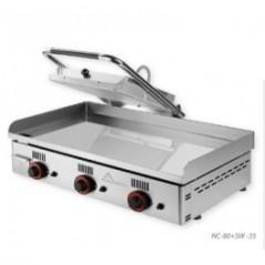 Plancha de cromo duro + grill. Serie sandwichera NOVO-CROM