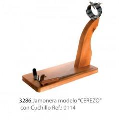 Jamonera modelo CEREZO con cuchillo modelo 3286