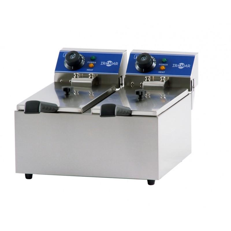 Freidora eléctrica serie gastronorm de cuba doble mod. FRY-4+4