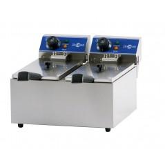 Freidora eléctrica serie gastronorm de cuba doble mod. FRY-8+8