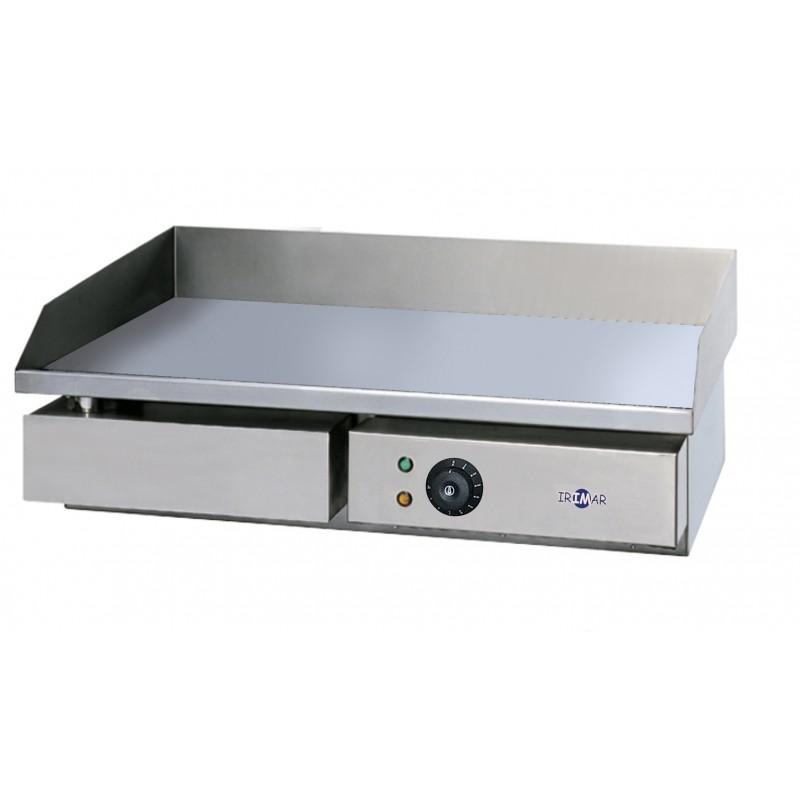 Plancha eléctrica lisa PLE-L-550 con placa de acero laminado y rectificada