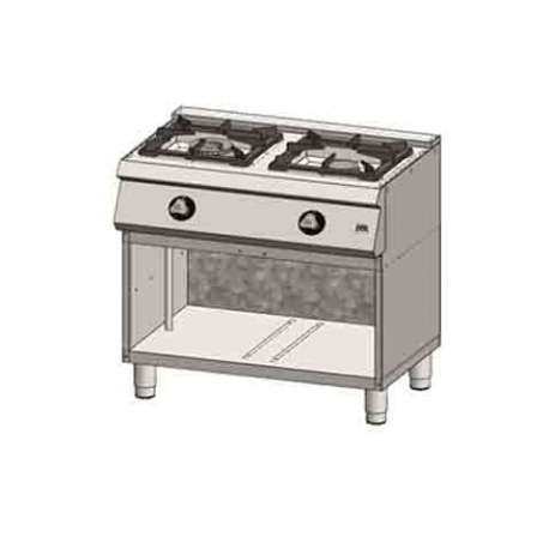 Cocina a gas 2 fuegos 550 estante C2F550E