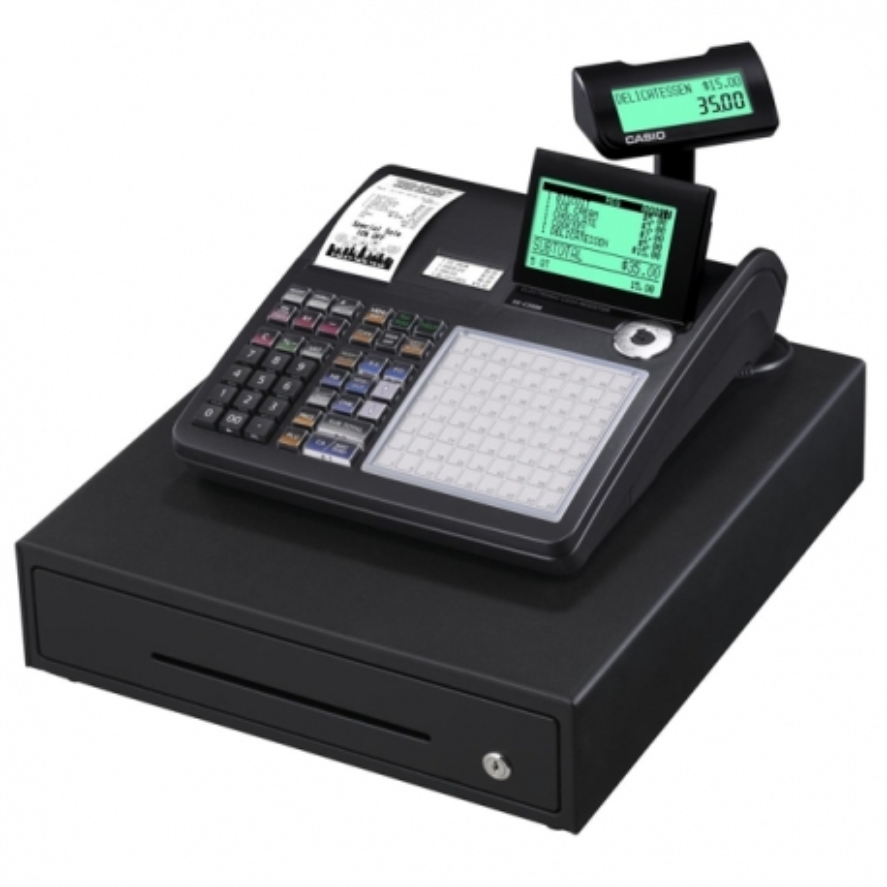 CASIO SE-C3500 Caja registradora alfanumérica 2 rollos - teclado plano
