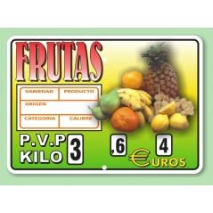 Portaprecio CUBANO frutas