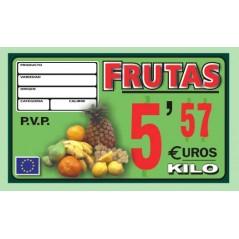 Portaprecio ASTURIAS frutas