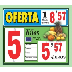 Portaprecios CALIFORNIA frutas