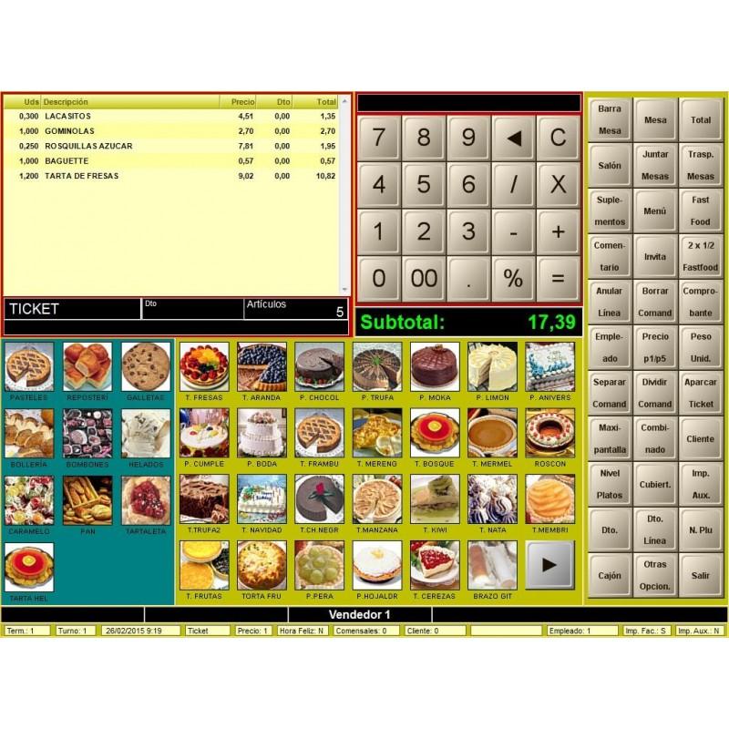Software TPV BDP para Panaderías y pastelerías