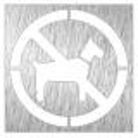 Pictograma prohibido animales - Modelo 082624