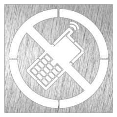 Pictograma prohibido el uso del teléfono - Modelo 082632