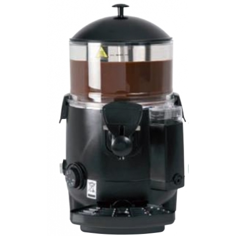 """Chocolatera con calentamiento a """"baño maría"""" y distribuidoras de bebidas calientes, leche, cafe, té, etc. Modelo CH- 5 R"""