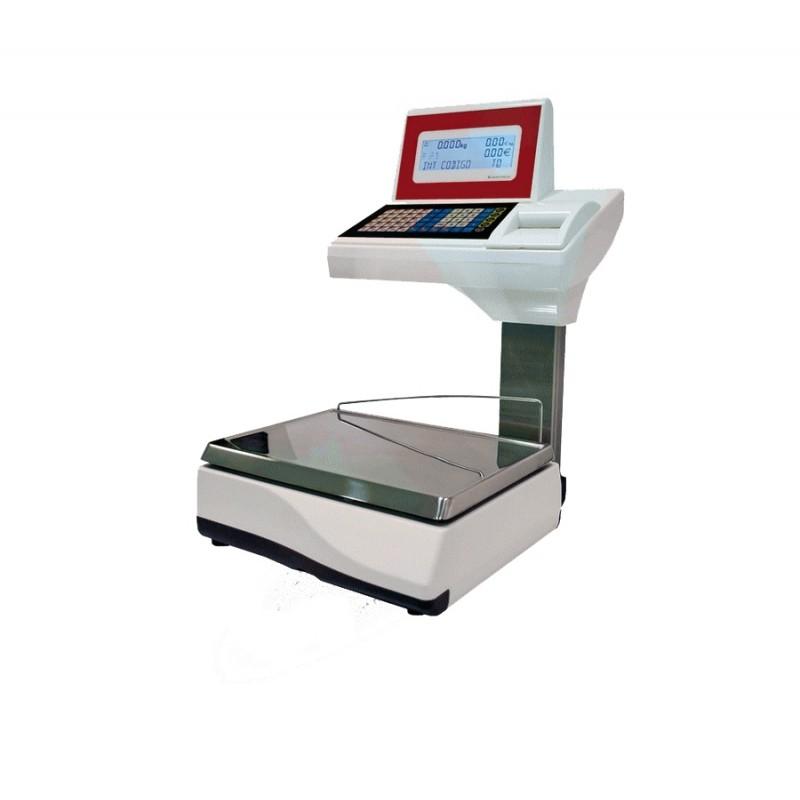 Balanza modelo URANO 20 V4 sobremostrador con impresora