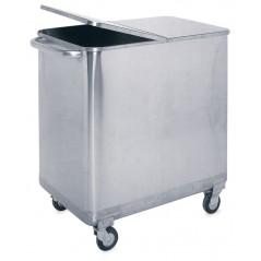 Contenedor inoxidable con tapa y ruedas- Especial para panadería- Modelo 486008