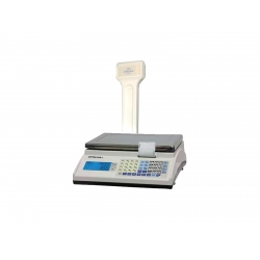 Balanza con Batería , impresora de Ticket y visor de cliente en columna Modelo MARTE de Grupo Epelsa