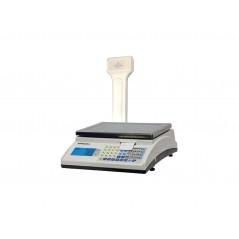 Balanza etiquetadora con Batería y visor de cliente en columna Modelo MARTE de Grupo Epelsa