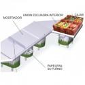 Mostrador modular de frutería