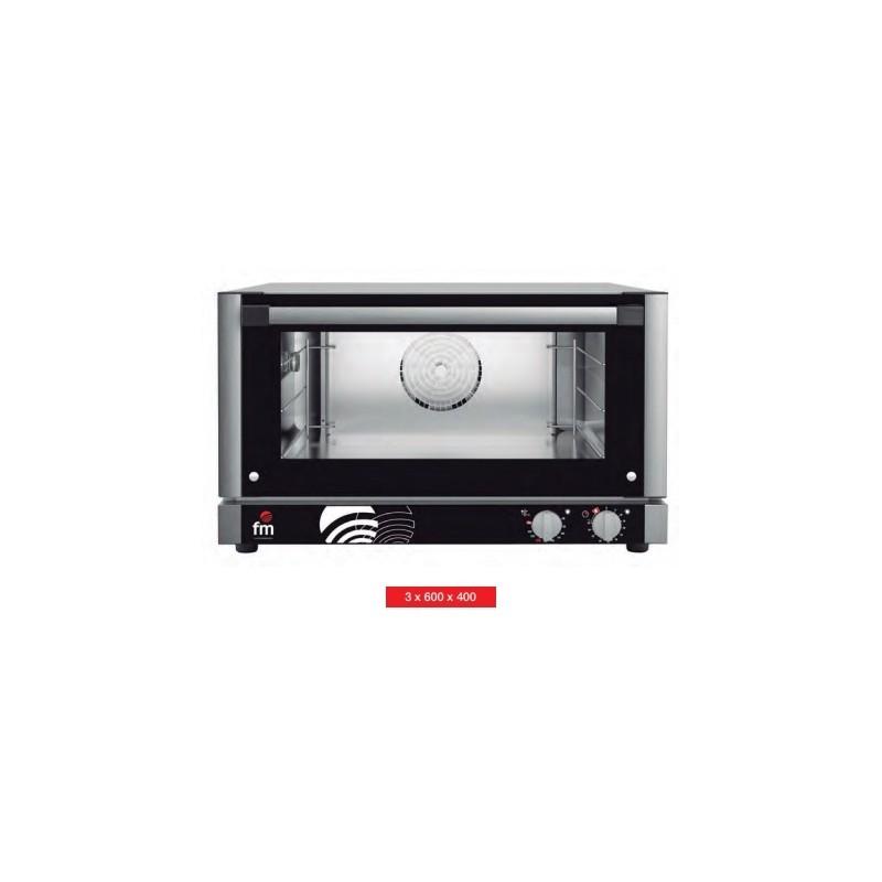 Horno panadería 3 pbandejas de 600x400 mm de FM