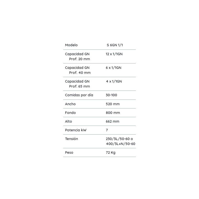 Horno eléctrico inteligente S 6GN 1-1 MyChef evolution