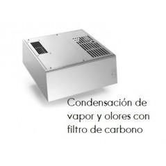 Condensación de vapor y olores con filtro de carbono