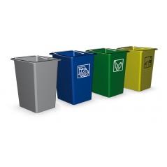 Contenedor de desperdicios y reciclaje en colores