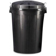Contenedor de desperdicios de plástico con tapa