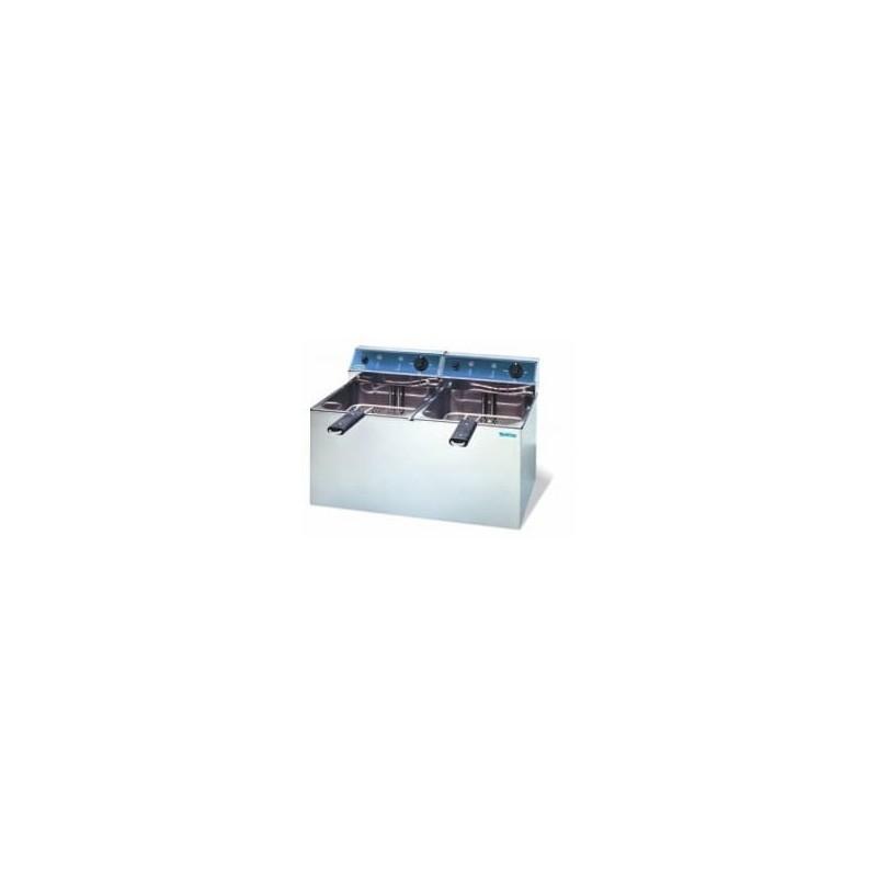 Freidora eléctrica de 6+6 litros modelo fr 66l