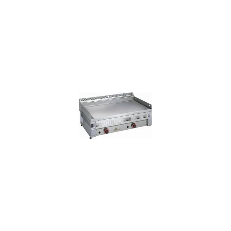 fry-top con placa de acero rectificado a gas